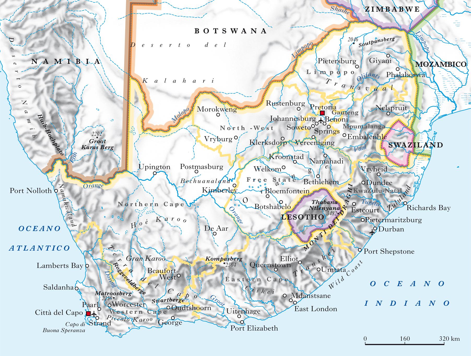 Cartina Sud Africa Da Stampare.Sudafricana Repubblica Nell Enciclopedia Treccani