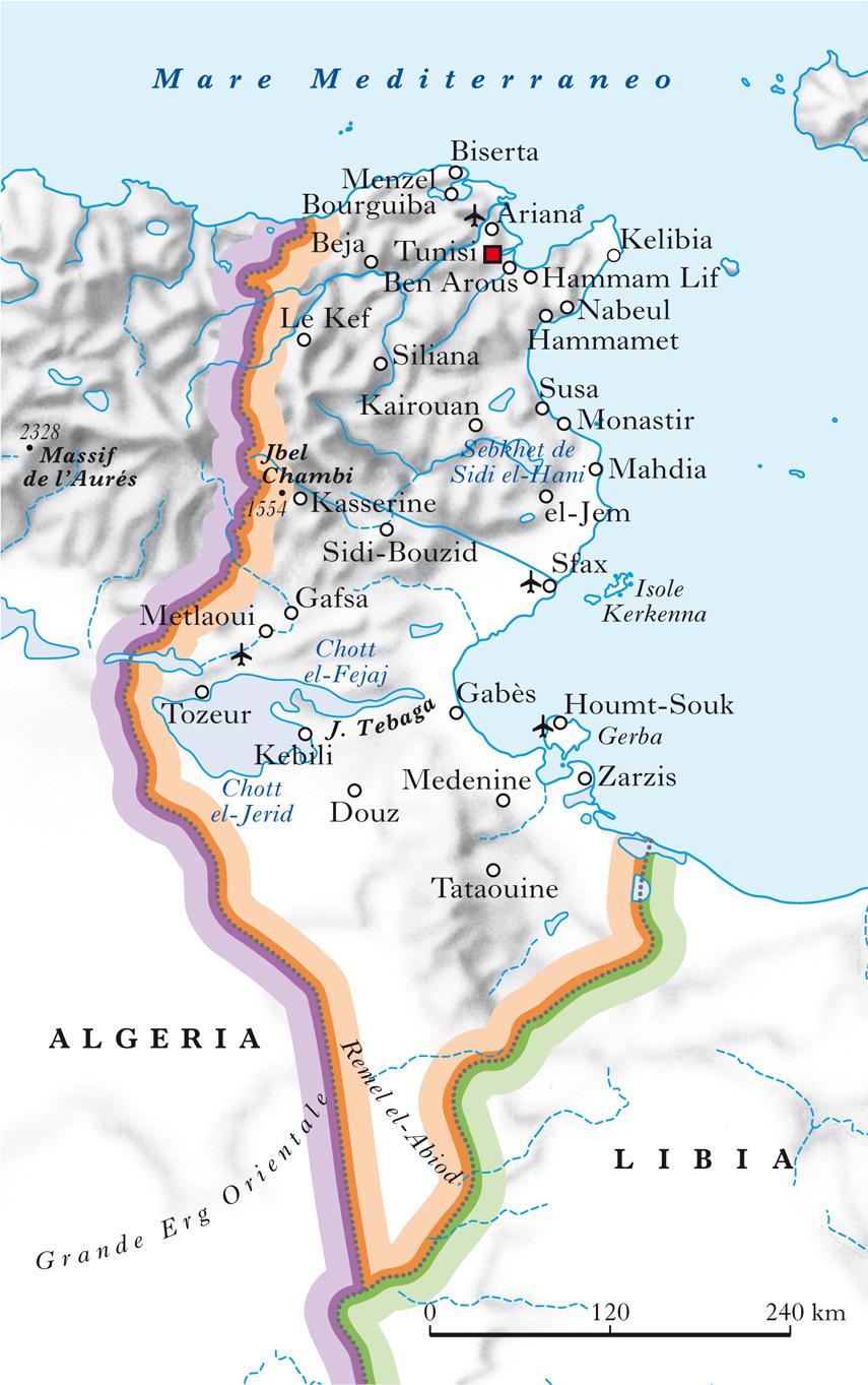 Cartina Fisica Del Mediterraneo.Tunisia Nell Enciclopedia Treccani