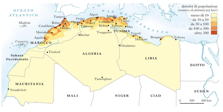 Cartina Fisica Dell Africa Mediterranea.Maghreb Nell Enciclopedia Treccani