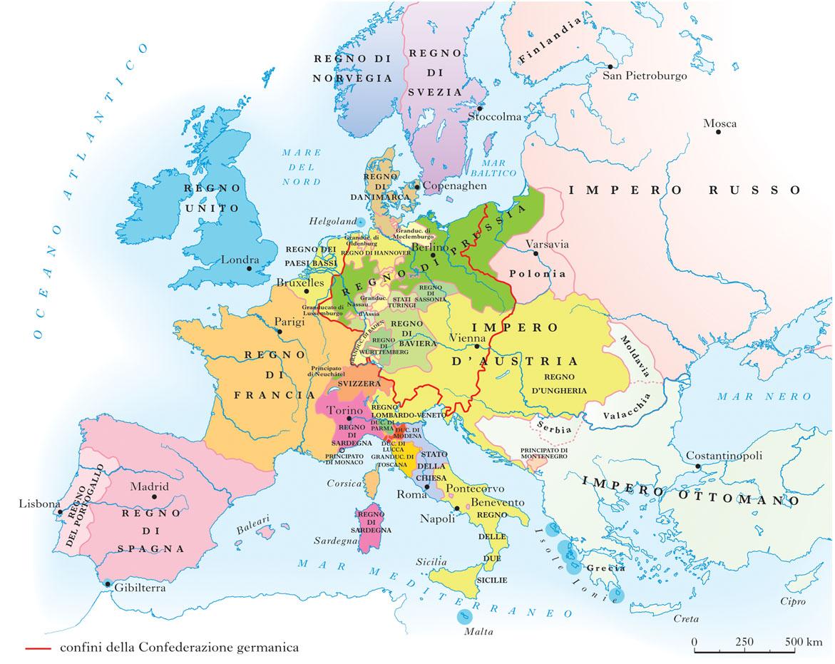 Cartina Dell Italia 1815.Vienna Congresso Di Nell Enciclopedia Treccani