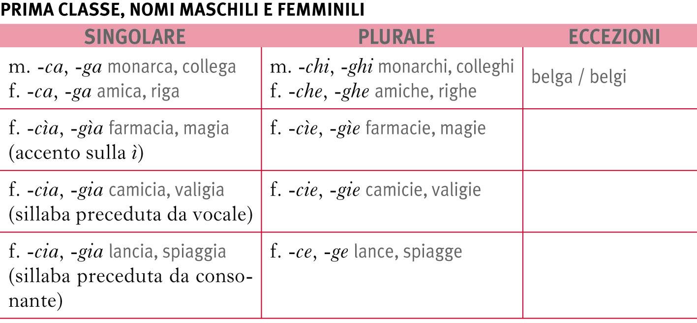 Plurale Dei Nomi In La Grammatica Italiana