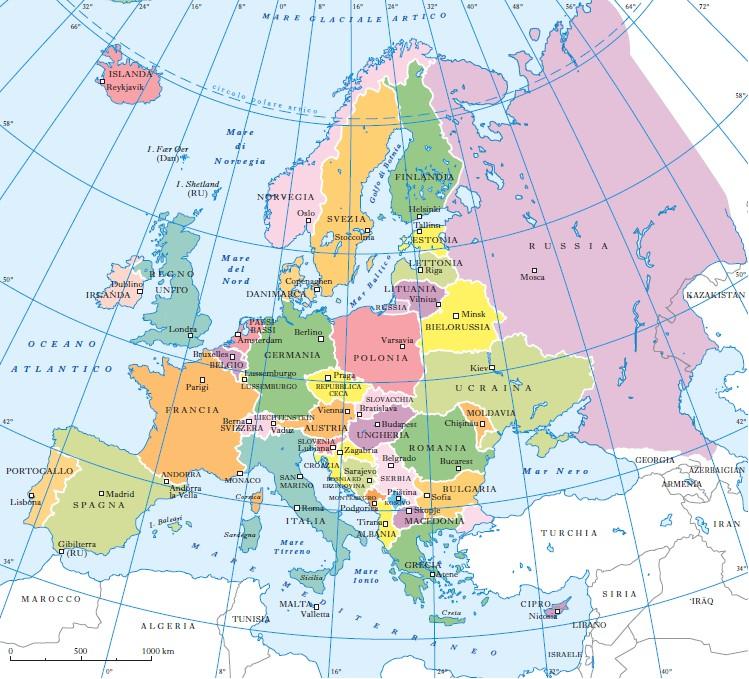 Cartina Europa 1938.Europa In Enciclopedia Italiana
