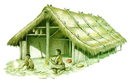 Abitazione in enciclopedia dei ragazzi treccani for Moderni piani di palafitte