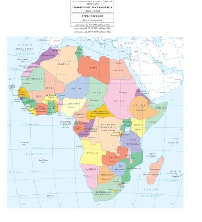Cartina Mondo Politica Con Capitali.Africa In Enciclopedia Italiana