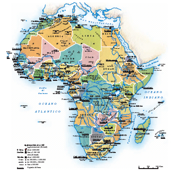 Cartina Sud Africa Da Stampare.Africa Nell Enciclopedia Treccani