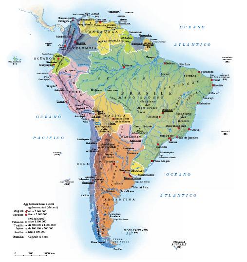 Cartina Fisica America Latina.America Nell Enciclopedia Treccani