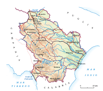 Lavello Potenza Cartina Geografica.Basilicata Nell Enciclopedia Treccani