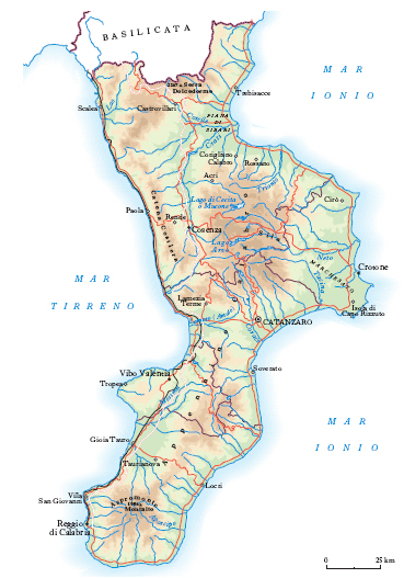 Cartina Geografica Della Calabria Fisica.Calabria Nell Enciclopedia Treccani