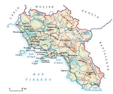 La Cartina Geografica Della Campania.Campania Nell Enciclopedia Treccani