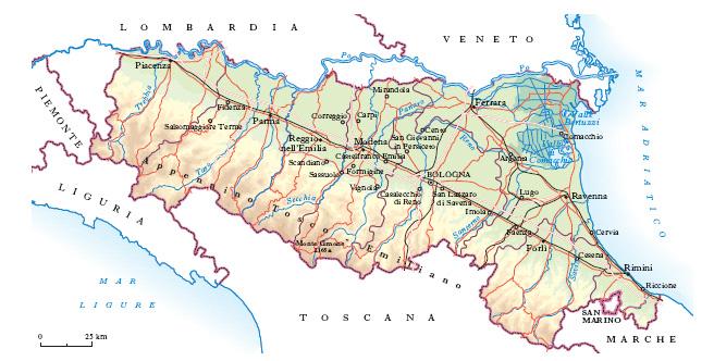 Cartina Muta Emilia Romagna.Emilia Romagna Nell Enciclopedia Treccani