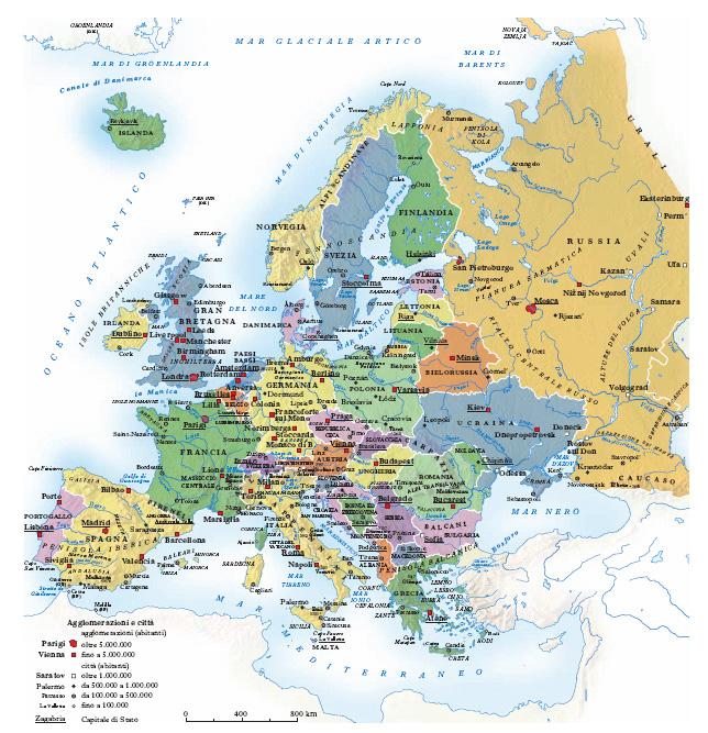 Cartina Muta Inghilterra Da Completare.Europa Nell Enciclopedia Treccani