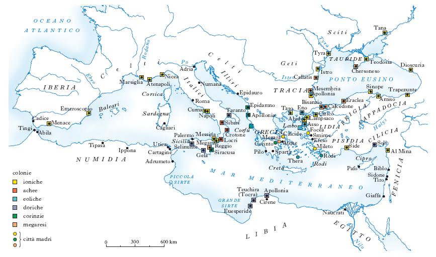 Mappa muta grecia antica geografia for Cartina della grecia antica da stampare