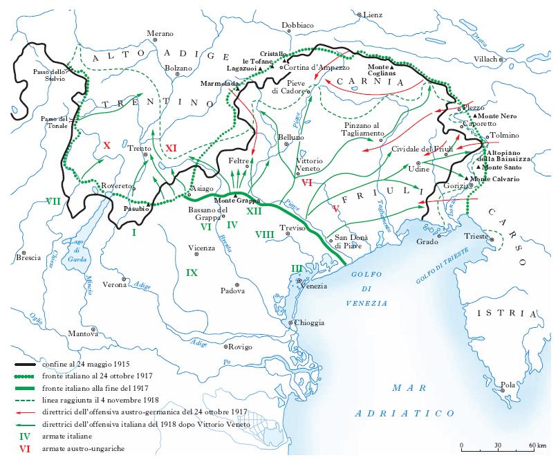 Cartina D Italia 1915.Guerra Mondiale Prima Nell Enciclopedia Treccani