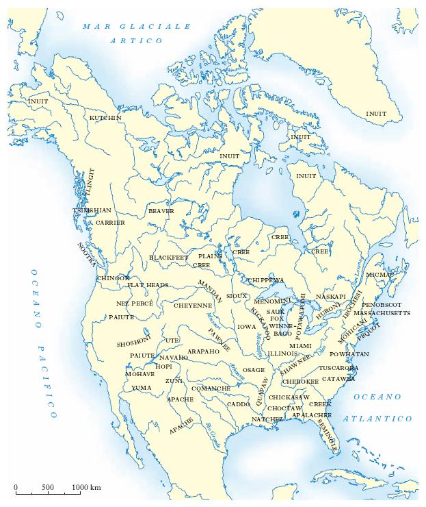 America Occidentale Cartina.Indiani D America Nell Enciclopedia Treccani