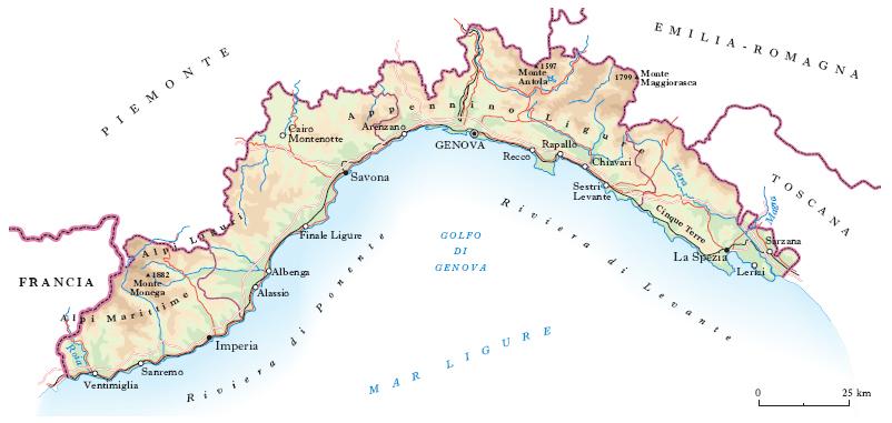 Cartina Regione Liguria.Liguria Nell Enciclopedia Treccani
