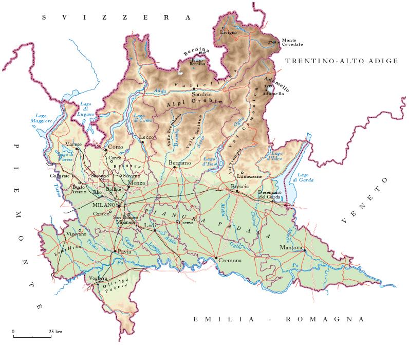 Lombardia Cartina Province.Lombardia Nell Enciclopedia Treccani