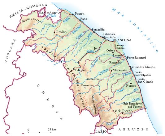 Marche Cartina Geografica Politica.Marche Nell Enciclopedia Treccani
