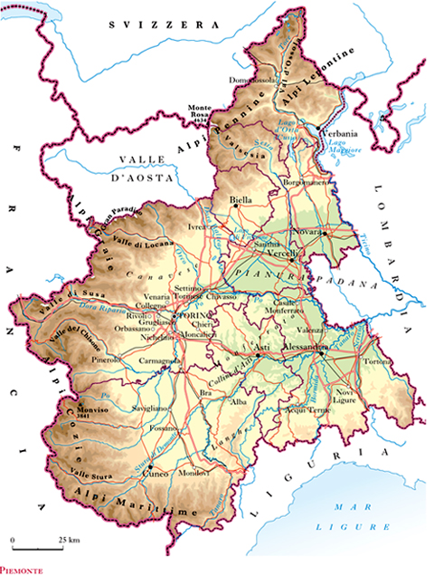 Cartina Basso Piemonte.Piemonte Nell Enciclopedia Treccani