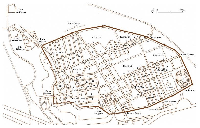 Pompei nell 39 enciclopedia treccani for Planimetrie della casa antica