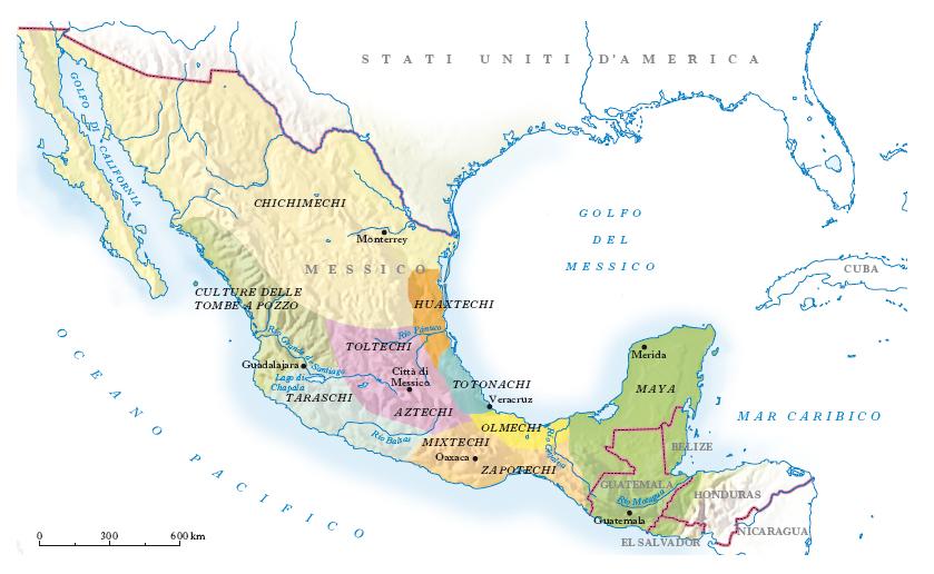 Precolombiane civilt nell 39 enciclopedia treccani - Mappa messico mappa da colorare pagina ...