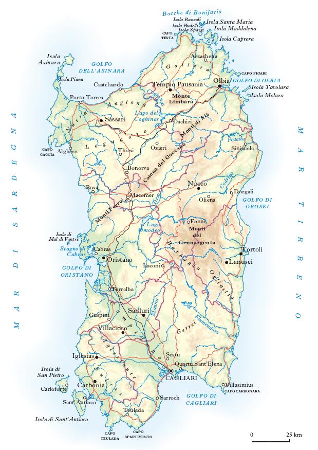 Sardegna Cartina Politica Dettagliata.Sardegna Nell Enciclopedia Treccani