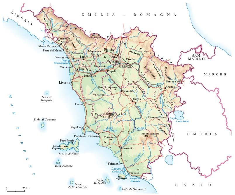 Cartina Della Toscana Con Tutti I Comuni.Toscana Nell Enciclopedia Treccani