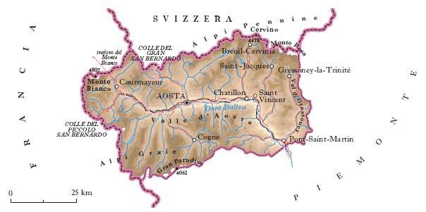 Cartina Della Valle D Aosta Politica.Valle D Aosta Nell Enciclopedia Treccani