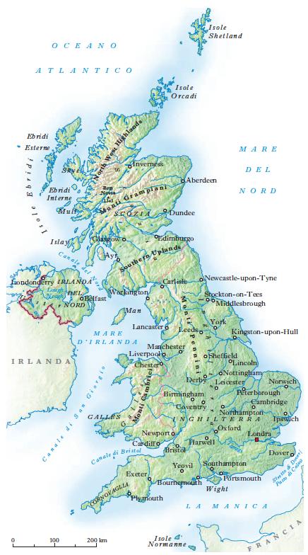 Cartina Geografica Fisica Dell Inghilterra.Gran Bretagna In Dizionario Di Storia