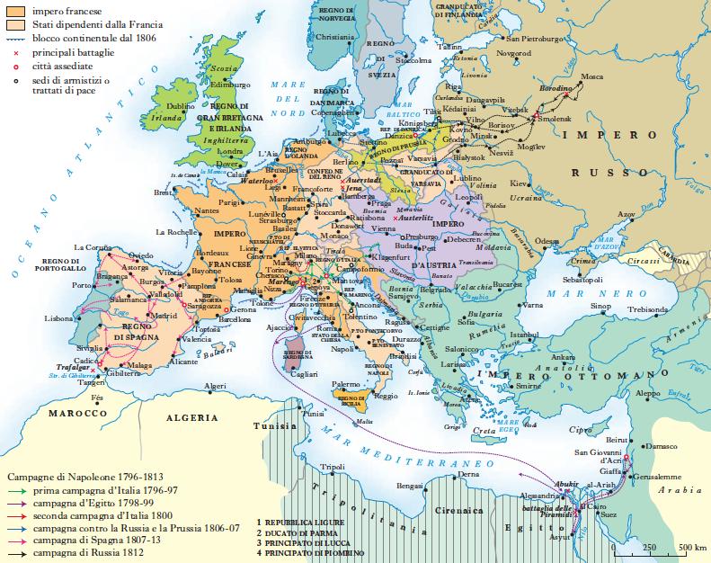 Cartina Italia 1810.Napoleoniche Guerre In Dizionario Di Storia