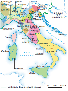 Cartina Italia Nel 400.Italia In Dizionario Di Storia