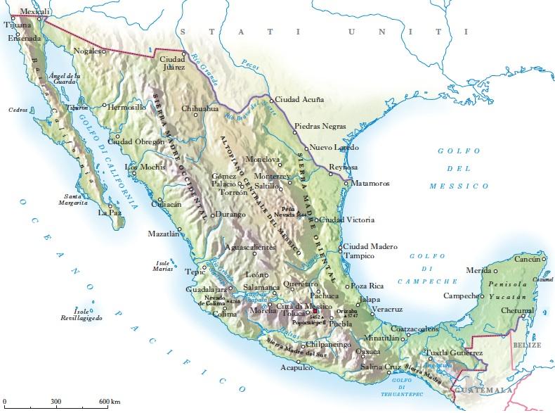 Cartina Geografica Politica Del Messico.Messico In Dizionario Di Storia