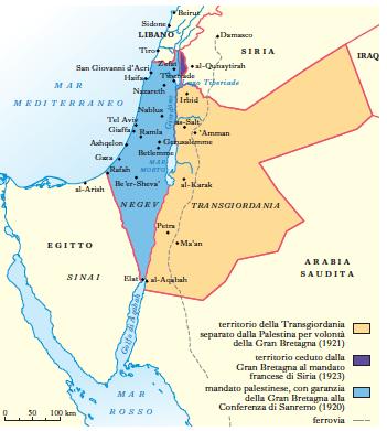 Cartina Fisica Palestina.Palestina In Dizionario Di Storia